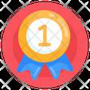 Honor 1st Position Badge Achievement Icon