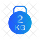 2 Kg Kettlebell Icon