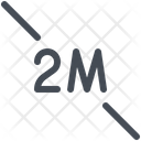 2 Meter Distance Icon