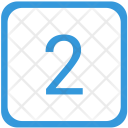 Two Number Keyboard Icon