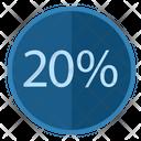Percent Discount 20 Icon