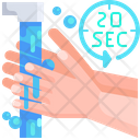 Second 20 Second Hand Wash Hand Washing Icon