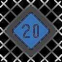Speedlimit Traffic Board Icon