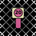 20 Speed Limit Icon