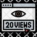 20 Views Click On Views Online Views Icon
