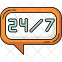 24 7 Hour Online Chat Icon