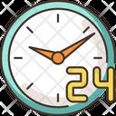 24 7 Hour Service Icon