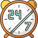 24 7 Hours Service Icon