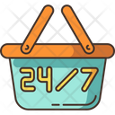 24 7 Hours Store Icon