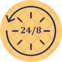 24 7 Service All Time Accessibility Digital Marketing Icon