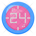 24 Time Clock Icon