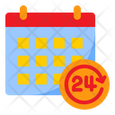24 Hour Hr Date Icon