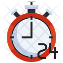 24 Hour Discount Sale Icon