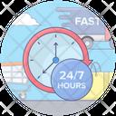 24 Hour Alert Helpline 24 Hour Services Icon