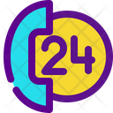 Open Hours Service Hours Support Icon