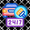 24 Hour Car Wash Icon