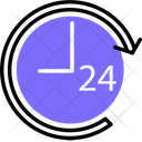 24 Hour Clock 24 Hours Delivery Icon