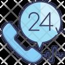 24 Hour Customer Care Service Icon