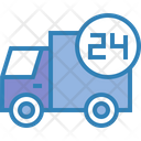 Delivery Truck 24 Hours Truck Icon