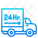 24 Hour Delivery Delivery Truck Delivery Icon
