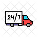 Free Shipping Truck Around Icon