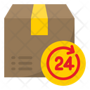 24 Hour Delivery Service Hr Shipping Icon
