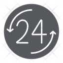 24 Hour Open Icon