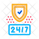 24 Hour Protection Icon