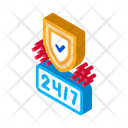 Round Clock Protection Icon