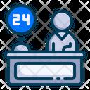 24 Hour Reception Icon