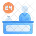 24 Hour Reception Icon