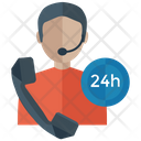 24 Hour Service Customer Representative Customer Service Icon