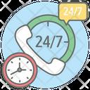 24 Hour Service 24 Hr Support Helpline Icon