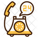 24 Hour Service Customer Service Technical Support Icon