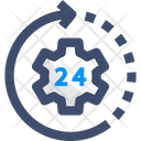 24 Hour Service 24 Hour Support Hour Support Icon