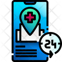 24 Hour Service Hospital Location Icon