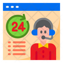 24 Hour Service Information Call Center Icon