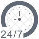 247 Full Time Customer Service Icon