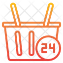 Shopping Hour Hour Shopping Bucket Icon