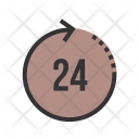 24 Shopping Hour Icon