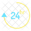 24 Hour Support 24 Hour Service Hours Service Icon