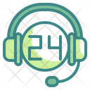 24 Hour Support 24 Hour Service Call Icon