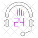 24 hour support Icon