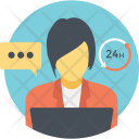 Customer Representative Service Icon