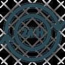 247 Customer Service Customer Support Icon