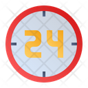 24 Hours Clock Time Icon