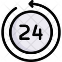 Business Marketing 24 Hours Icon