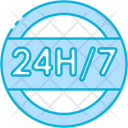24 Hours 24 Hours Support Service Icon