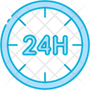 Hour 24 Hours 24 Hours Support Icon