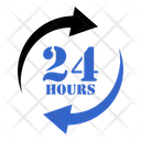 24 Hours Help Schedule Icon